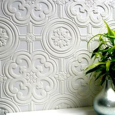 Anaglypta paintable wallpaper..