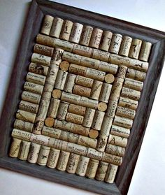 Rustic Wine Cork Board