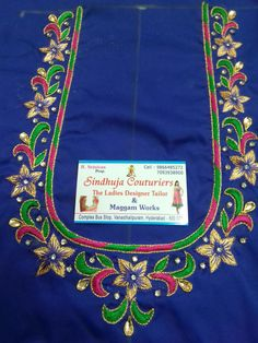 South Indian Blouse Designs, Best Blouse Designs, Simple Blouse Designs, Cutwork Blouse Designs, Wedding Saree Blouse Designs, Embroidery Works, Hand Embroidery, Hand Work Blouse Design, Maggam Work Designs