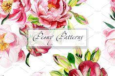 Watercolor Peony patterns by lilisavelieva on Wallpaper Panels, Pattern Wallpaper, Iphone Wallpaper, Watercolor Pattern, Watercolor Flowers, Flowers Dp, Wallpaper Pictures, Graphic Patterns, Pattern Art