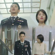 Jung Hae In and Bae Suzy in While You Were Sleeping Police Detective, While You Were Sleeping, Bae Suzy, Lee Jong, Korean Actors, Make Me Smile, Dramas, Crime, Mystery