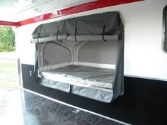 Image result for enclosed trailer c&er fold out bed & Image result for