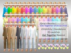 Get Together expansion needed! please check notes. Found in TSR Category 'Sims 4 Female Child Sleepwear' Source: Qnie Recolor- EA GTW Onesie Child Sims 4 Children, 4 Kids, Sims 4 Cas, Sims Cc, Sims 4 Get Together, Sims Baby, Sims 4 Update, Girls Pajamas, Child And Child
