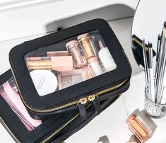 Makeup Bag And Toiletry Set Makeup Travel Case, Makeup Case, Makeup Kit, Makeup Brushes, Makeup Bag Organization, Travel Organization, Makeup Storage, Cosmetic Case, Travel Cosmetic Bags