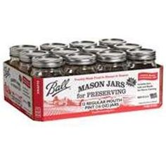 Jarden Home Brands #61000 Ball 12PK PT Mason Jar