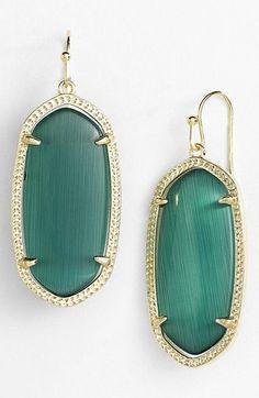 Kendra Scott Elle Earrings in Emerald