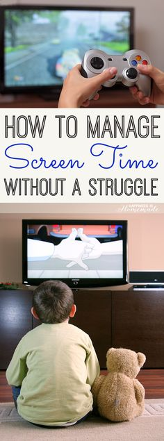 How to Manage Your Child's Screen Time Without a Struggle - great techniques for reducing screen time and teaching kids the value of their screen time - Happiness is Homemade