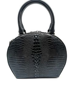Its unique shape makes it look special. It has a practical split interior with a zippered pocket and additional compartments. There is a silver zippered Italian Leather, Leather Bag, Shoulder Strap, Zipper, Pocket, Luxury, Unique, Bags, Shape
