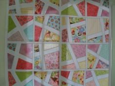 Layer cake quilt pattern made using stack and whack quilt method.  Plenty more free quilt patterns on www.ludlowquiltandsew.co.uk