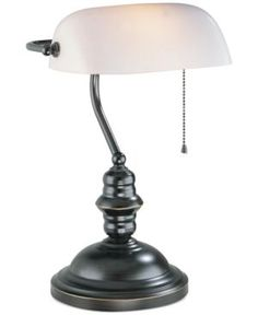 Lite Source Bankers Desk Lamp - Brown