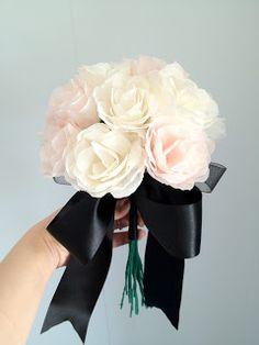DIY Wedding Bouquet Crepe Paper Flowers