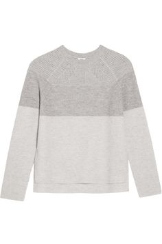 Shop on-sale Vince Color-block ribbed wool and cashmere-blend sweater. Browse other discount designer Knitwear & more on The Most Fashionable Fashion Outlet, THE OUTNET.COM