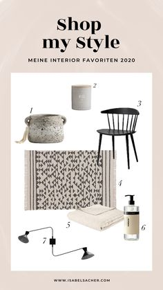 Meine Interior Favoriten 2020 Shops, Posts, My Style, Blog, Shopping, Home Decor, Tents, Messages, Decoration Home