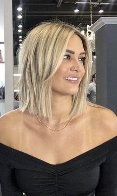 Medium Hair Styles, Short Hair Styles, Medium Hair Cuts Bob, Bob Cut Hair, Blonde Hair Styles Medium Length, Blonde Hair Looks, Brunette Hair, Great Hair, Balayage Hair