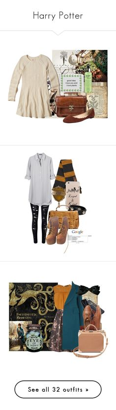 """""""Harry Potter"""" by cute-but-psycho-123 ❤ liked on Polyvore featuring Nina B, Hollister Co., ZeroUV, philosophy, Fabio Rusconi, United by Blue, Versace, Proenza Schouler, Jeffrey Campbell and Dorothy Perkins"""