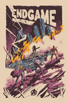 pixalry: Avengers Endgame Poster Created by Marie Bergeron Limited edition p Marvel Universe Poster Marvel, Marvel Movie Posters, Avengers Poster, Movie Poster Art, Marvel Movies, Comic Poster, Vintage Movie Posters, Comic Movies, Marvel Characters