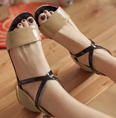 ENMAYER 2014 New New hot Genuine 3 color fashion sexy flat sandals for women and women's summer shoes $49.83
