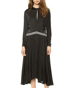 Long Sleeves Dress With Back Zipper