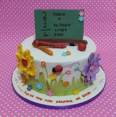 """The school year is ending here. So made this cake for my son's teacher yesturday. The design i saw here on cakes decor, so credit goes to """"cupcakes by louise"""" I just so loved the softness and the colors of the original design. I thoroughly enjoyed..."""