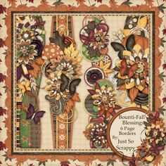 Bounti-Fall Blessings Page Borders