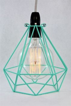 Diamond-wire-lamp-Cage-pendant-cloth-cord-trouble-light-chandelier