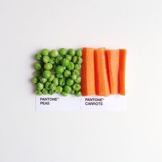 Perfect Food Soulmates Illustrated By Pantone Color Chips