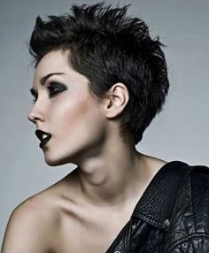 Short, spiky hairstyles are very popular with women because they can suit so many styles! Get inspiration for short spiky hairstyles. Mohawk Hairstyles For Women, Short Spiky Hairstyles, Short Pixie Haircuts, 2015 Hairstyles, Short Hair Cuts, Short Hair Styles, Gorgeous Hairstyles, Spiky Short Hair, Unique Hairstyles