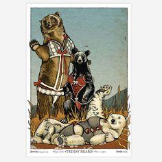 Teddy Bears Print 13x19 byErin J. King