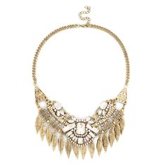 """Sole Society """"crystal leaf statement necklace"""", $49.95"""