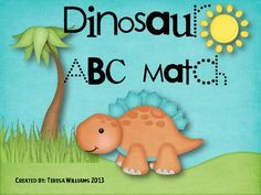 This cute dinosaur activity can be used as a literacy station, in small groups, as independent work, or as a needs based lesson. The ABC cards can . Dinosaur Activities, Abc Activities, Kindergarten Activities, Educational Activities, Kindergarten Rocks, Kindergarten Teachers, Teaching Reading, Teaching Kids, Teaching Resources