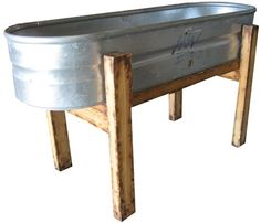 Galvanized Tub on St