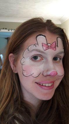 Suzy Sheep - Peppa Pig character masks face painting design Animal Face Paintings, Animal Faces, Party Animals, Animal Party, Disfraz Peppa Pig, Monkey Face Paint, Sheep Face, Pig Character, Charlottes Web