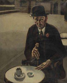 Toon Kelder (Dutch, 1894-1973), Portrait of the producer A.W. Stellwagen, 1925. Oil on canvas, 110 x 90 cm.