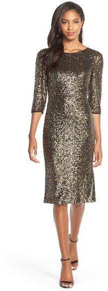 KUT from the Kloth Sequin Sheath Dress Glitz And Glam, Sequin Dress, Sheath Dress, Sequins, Nordstrom, Formal Dresses, Sleeves, Sweaters, How To Wear