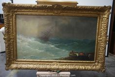 MaxSold - Auction: South San Francisco December Inventory Reduction Online Auction - Pirate Ship Painting