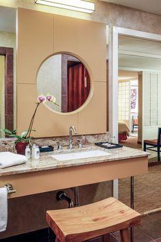 Hotel Kabuki - a Joie de Vivre Boutique Hotel (San Francisco, CA) Boutique Hotels San Francisco, Hotel San Francisco, Japanese Soaking Tubs, Japanese Bathroom, Tub Shower Combo, Shower Tub, Indian Room, Bathroom Paneling, Traditional Japanese