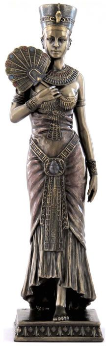 Egyptian Queen With Fan Art Sculpture Statue Figurine for the Home available at AllSculptures.com