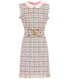 Gucci Embellished Tweed Dress In Multicoloured Stage Outfits, Dress Outfits, Fashion Dresses, Gucci Dress, Frack, Tweed Dress, Embellished Dress, Classy Outfits, Polyvore Outfits