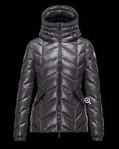 f1a9fa4d02ad solde Femme Moncler Doudoune BADETE Hooded Veste Gris avec flocage Warm  Coat, Outerwear Women,