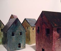 Miniature abandoned houses by Mandy Jordan of JunqueGrrl  (****Duplicate Pin)