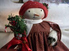 Primitive doll,PATTERN,Christmas,Santa,elf,Dumplinragamuffin,#74