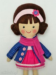 Malowana lala rebeka szalikiem lalki dollsgallery lalka zabawka
