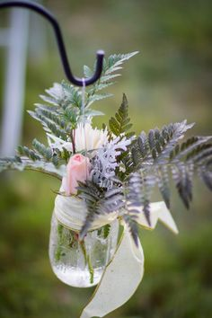 Gorgeous fern and rose ceremony aisle marker #weddings #wedding decor | Teal Photography