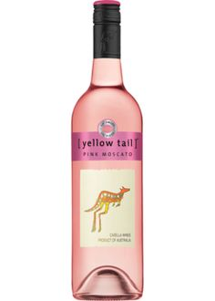 Yellow Tail Pink Moscato one of my bday gift #MyFav from #MyFav