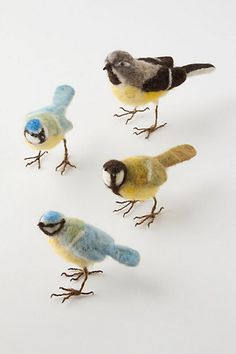 Felted Songbirds #anthropologie