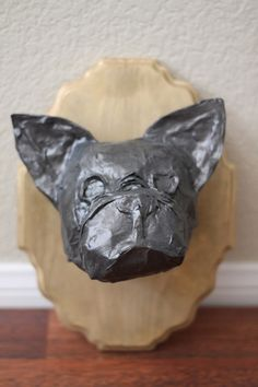 Boston Terrier French Bulldog Faux Taxidermy by LittleChiefPhotos
