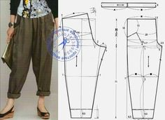 Nov 2019 - Secret Linen Pants: Heathered Grey and Taupe Sewing Pants, Sewing Clothes, Diy Clothes, Dress Sewing Patterns, Clothing Patterns, Plus Size Harem Pants, Modelista, Pants Pattern, Fashion Sewing