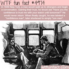 Confidence man - WTF? weird and interesting but not-a-fun fact