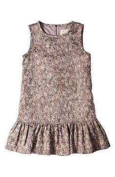 Peek 'Brooklyn' Shimmer Jacquard Sleeveless Drop Waist Dress (Toddler Girls, Little Girls & Big Girls) available at #Nordstrom