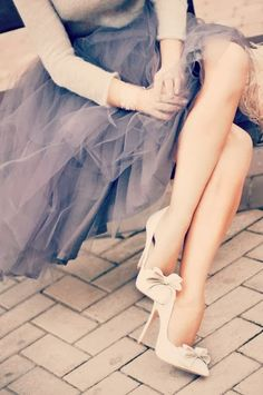 shoes and tulle skirt